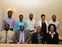 Front Row:  Prime Minister Harris (second from left); Cabinet Secretary, Ms. Josephine Huggins (second from right) along with Staff of the Citizenship by Investment Unit.