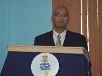 DPP Gossai while giving brief remarks to the participants.