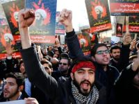 Iranian protesters set fire to the Saudi embassy in Tehran on Sunday