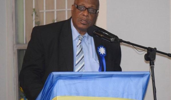 Commissioner Ag Liburd at Nevis Division Award_020616