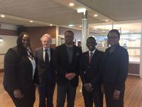 (L-R) Ms. Asha DeSuza, Ambassador David Doyle, Hon. Mark Brantley, Mr. Anselm Caines, Ms. Lorna Hunkins