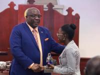 PM Harris Presents to Remarkable Teen