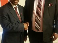 PM Harris and Dr. Edward Greene