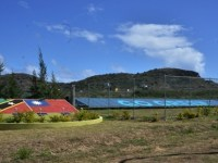 The newly constructed solar farm in St. Kitts and Nevis