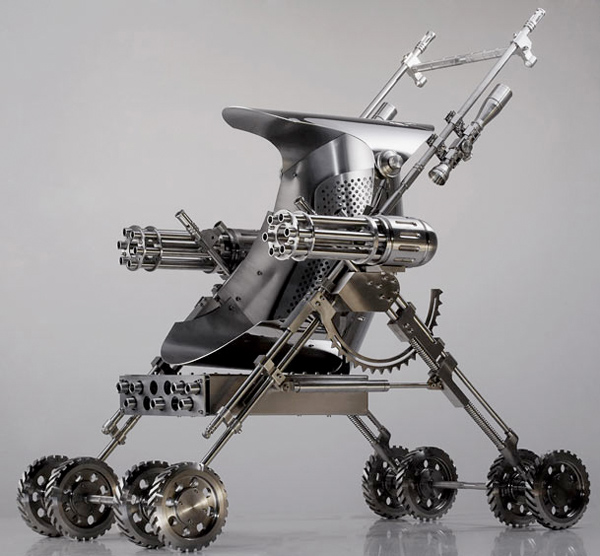 Push Chair with Deadly Gattling Guns