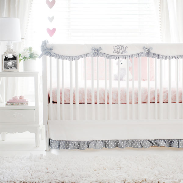 S Bunny Baby Bedding  Hop In Peach Crib Collection