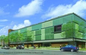 Rendering of the proposed garage courtesy of Tawani Enterprises