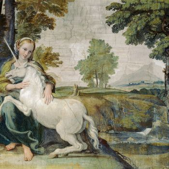 Virgin and Unicorn, 1602, Fresco: Domenichino