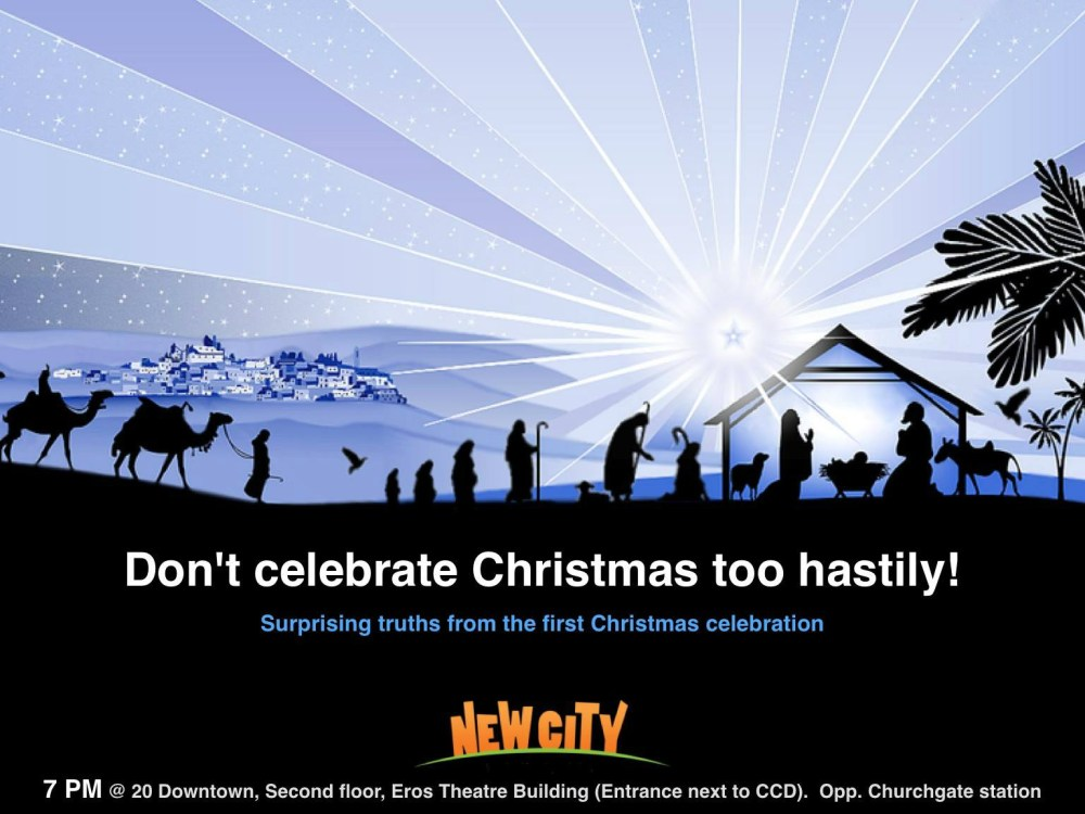 Don\'t celebrate Christmas too hastily? Image