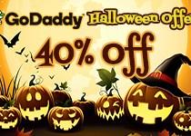 GoDaddy Save 40% for Halloween 2016