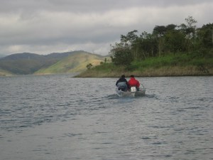 Brazilian Rowing Coach on Itamonte lake, Brazil