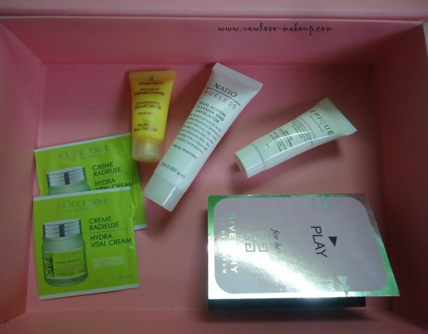 August My Envy Box Review, Indian Makeup and Beauty Blog, L'Occitane, Natio, Givenchy, Wild Ferns, Epique