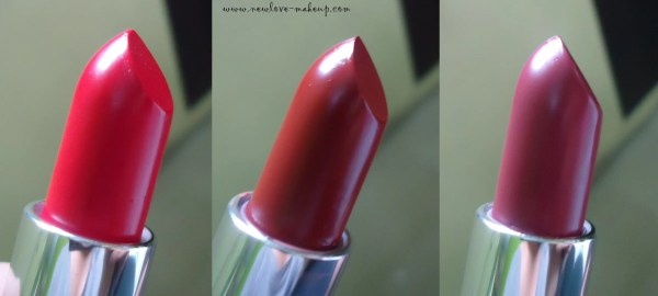 Avon Ultra Color Lipsticks SPF15 Review, Swatches-Buttered Rum, Lava Love and WineBerry