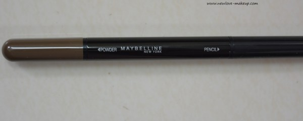 Maybelline Fashion Brow Duo Shaper Pencil Brown Review & Swatches, Indian Makeup Blog