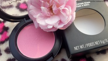 MAC Sheertone Blush Pink Swoon Review, Swatches, FOTD