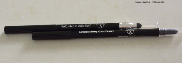 PAC Cosmetics Eyeliners & Kohls Review, Swatches, Indian Makeup and Beauty Blog