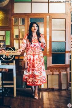 OOTD: Red & White Flared Midi Dress, Indian Fashion Blog