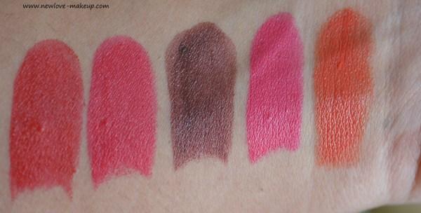 Elle 18 Color Pop Matte Lipsticks Review, Swatches, Indian Makeup Blog