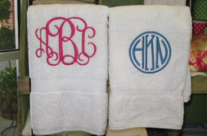 monogrammed hand towes