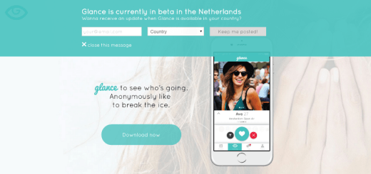 glance dating app home page