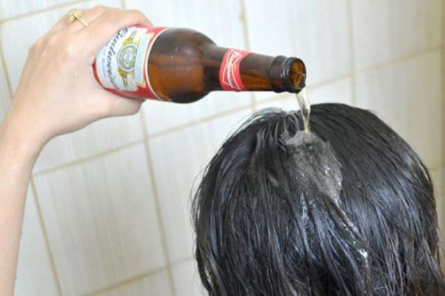 hair hacks beer for instant shine_New_Love_Times