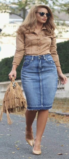 12 Top Tips On How To Wear A Denim Skirt Like A True Diva