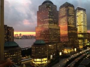 Sunset Over the Hudson River, lower Manhattan