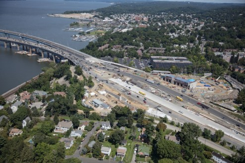 August 25, 2017 - The New York State Thruway's new maintenance facility takes shape near the Westchester landing.