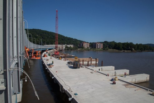 June 28, 2017 - Work continues on the permanent maintenance dock.