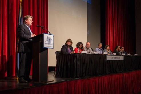 June 15, 2016 - Panelists at the 2016 annual public meeting in Rockland, held on June 15 at Nyack High School, shared the latest project progress.