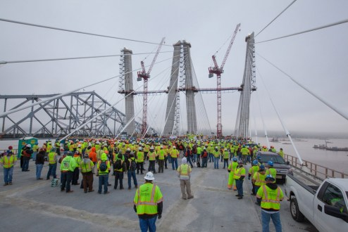 May 1, 2017 - The project team unites to kick-off Safety Week.