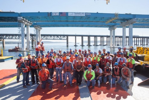 October 6, 2016 - The remarkable progress on the Hudson River is made possible by the hardworking men and women on the New NY Bridge project.