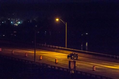 October 6, 2017 - The final car crosses the Tappan Zee Bridge.