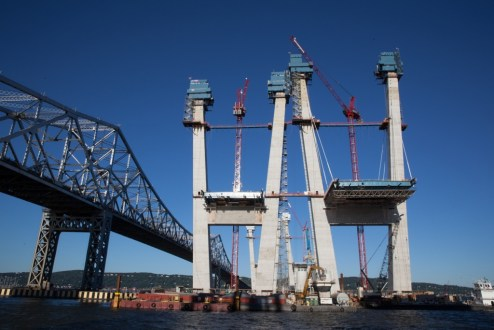September 2, 2016 - The iconic main span towers continue to rise.