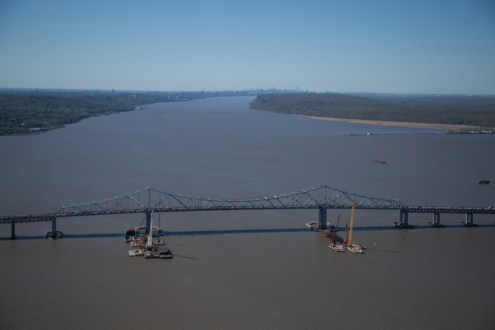 May 2014 - Aerial View of the Main Span toward NYC