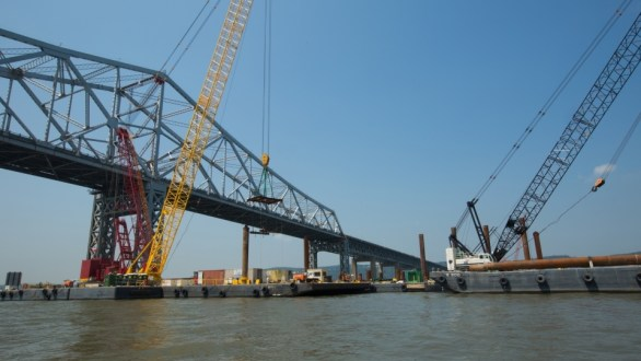July 2014 - Main span pile cap construction