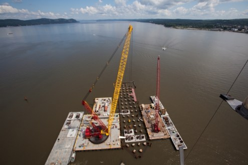 June 2014 - Main span pile cap construction
