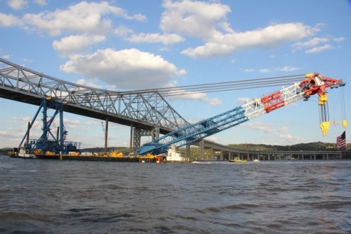 October 8, 2014 - I Lift NY passing underneath the Tappan Zee Bridge