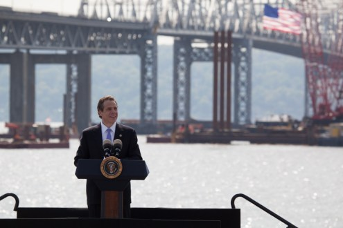 May 14, 2014 - Governor Andrew Cuomo introducing President Obama in Tarrytown, NY.