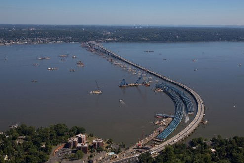 September, 2015 - An aerial view of the Rockland landing.