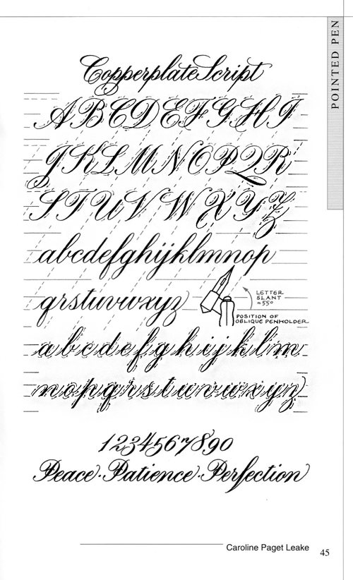 Learn Calligraphy Letters  Copperplate Calligraphy  Something