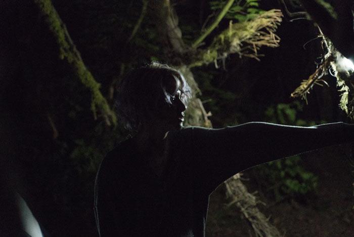 Scena dal film horror Blair Witch