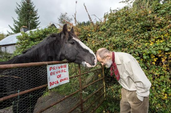 A lifetime of banging his head against convention - Martin Bengtsson with horse 'Sid' (Photo - Michael Chester)