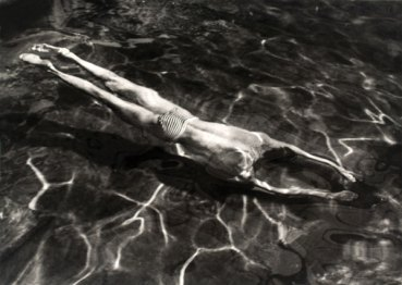 André Kertész. Underwater Swimmer, Esztergom, Hungary 30 June 1917. The Sir Elton John Photography Collection. © Estate of André Kertész/Higher Pictures