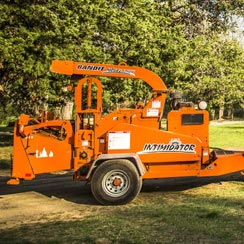 Newton Tree Service wood chipper