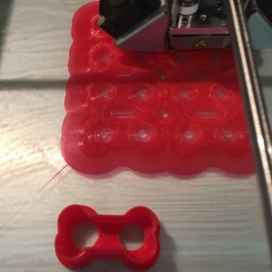 3D printing an 8-up template for bone-shaped dog treats