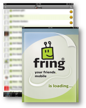 Fring for iPad screenshot