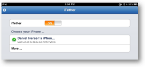 iTether for iPad screenshot