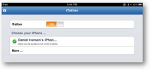 iTether for iPad screenshot