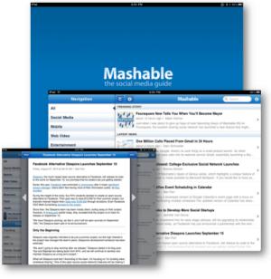 MAshable for iPad screenshot
